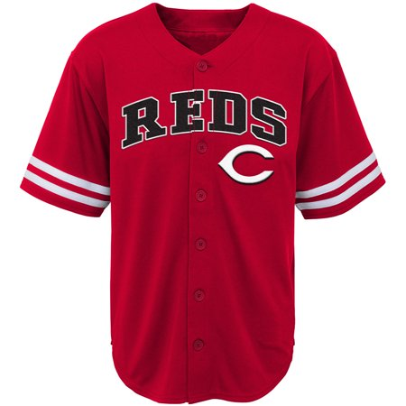 Variant Red Jersey - Youth Red Cincinnati Reds Team Jersey