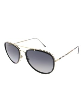 a07cc657dc58 Product Image Burberry BE 3090Q 1167T3 58mm Unisex Aviator Sunglasses