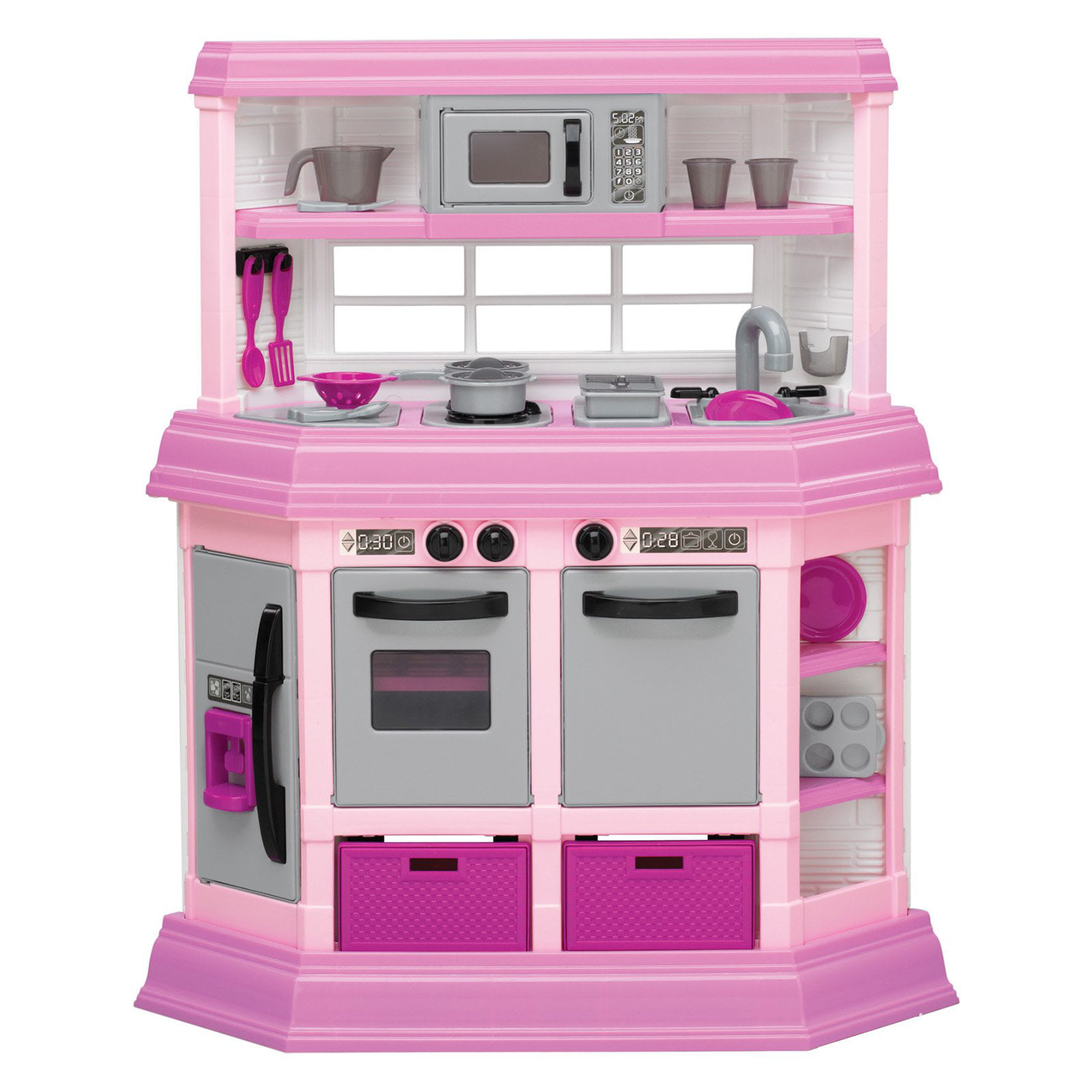 american plastic toys custom kitchen ft. 22 accessories! - walmart