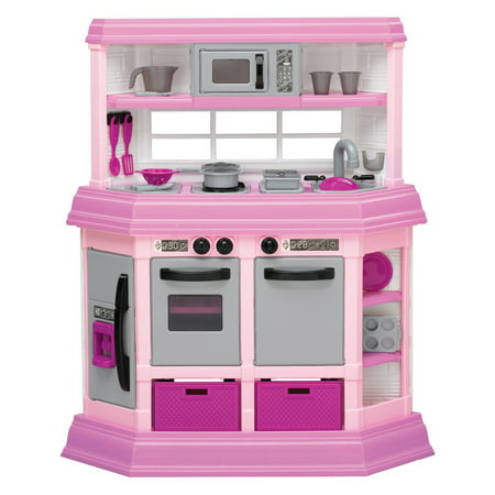 American Plastic Toys Deluxe Custom Kitchen with 22 Accessories ...