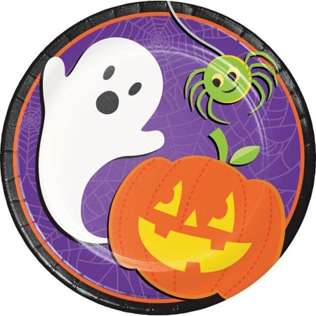 Creative Converting Halloween Skeleton Dessert Plates, 8 ct (Floor 8 Halloween Special)