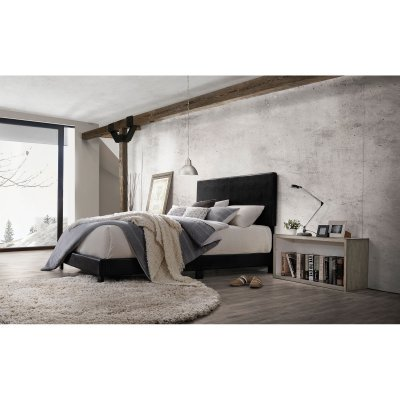 Acme Lien Panel Faux Leather Queen Bed, (Acme Leather Bed)