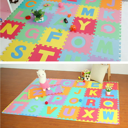 Tuscom 36Pcs Alphabet Numbers EVA Floor Play Mat Baby Room ABC Foam Puzzle ()
