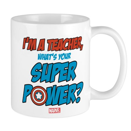 CafePress - Captain America Teacher Mug - Unique Coffee Mug, Coffee Cup CafePress](Teacher Coffee Mugs)