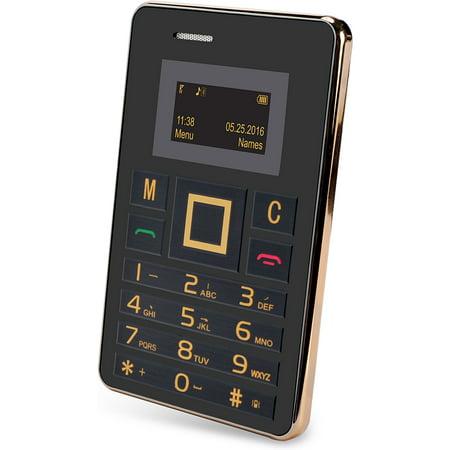 SLIDE mini Unlocked Wallet-Sized 2G GSM World Phone - (Mini Gsm Cell Phone)