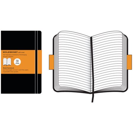 Moleskine Soft Pocket Notebook, 3.5