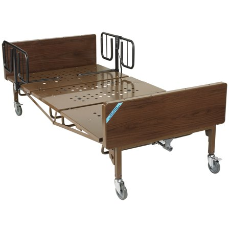 Drive Medical Full Electric Bariatric Hospital Bed with 1 Set of T Rails Bariatric Full Electric Hospital Bed
