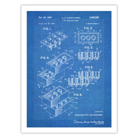 Lego poster toy blocks poster 1961 patent art handmade gicle lego poster toy blocks poster 1961 patent art handmade gicle gallery print blueprint 18 malvernweather Gallery