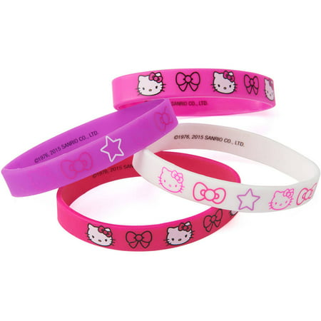 3facd59e1 Hello Kitty Party Favor Rubber Bracelets, 4ct - Walmart.com