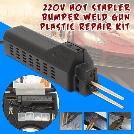 220V Staples + Hot Stapler Car Bumper Fender Fairing Welder Pliers Gun Plastic