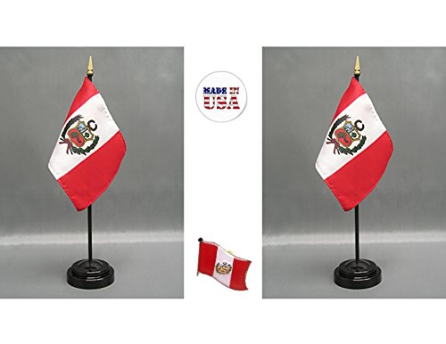 "4/""x6/"" Peru Stick Flag Table Staff Desk Table"