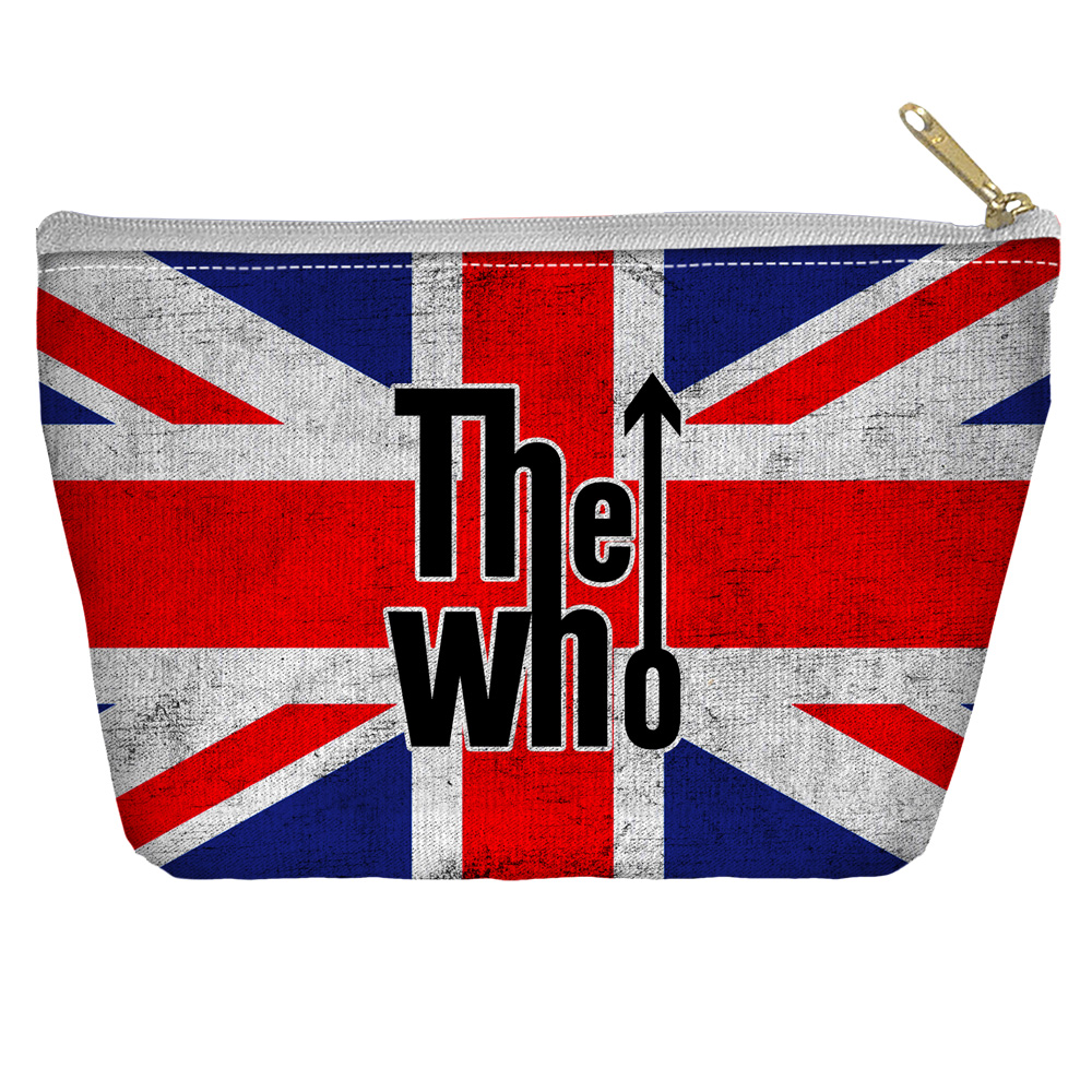 The Who Who Flag Accessory Pouch White 8.5X6