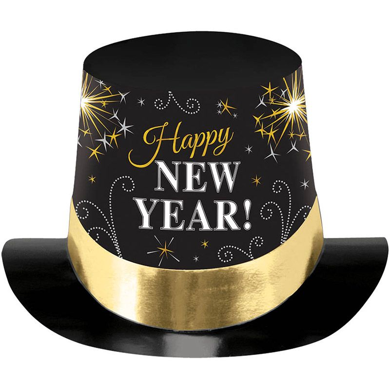 """New Year Metallic 6"""" Paper Top Hat (Each) - New Year Eve ..."""