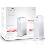 ARRIS SURFboard (24x8) DOCSIS 3.0 Cable Modem / AC1750 Dual-Band Router / XFINITY Voice. Approved for XFINITY Comcast Only for plans up to 600 Mbps. (SVG2482AC)