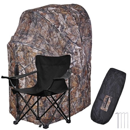 Fold Chair Ground Deer Hunting Blind Woods Camouflage