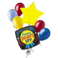 7 pc Winning Ribbon Happy Father's Day Balloon Bouquet Party Decoration Dad