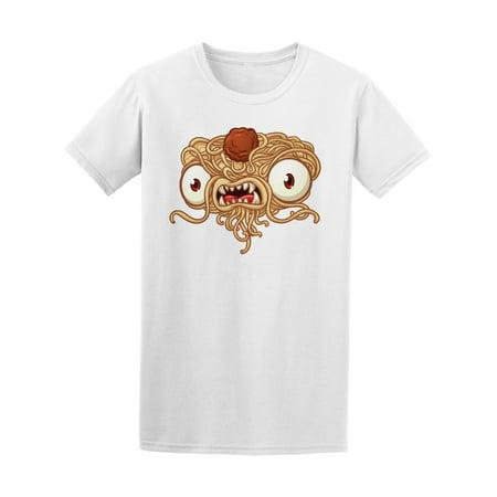 Flying Spaghetti Monster Emblem - Scary Flying Spaghetti Monster Tee Men's -Image by Shutterstock