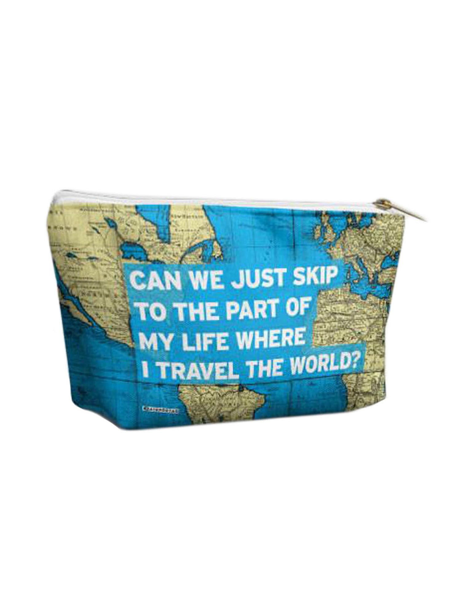 Airportag Travel The World Funny Airport Vegan Cosmetic Makeup Shave Bag Pouch