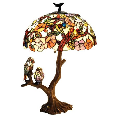 Flowers & Birds Double Lit Table Lamp
