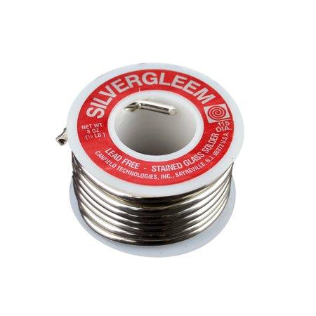 - Canfield Lead-Free Silvergleem solder, 1/2 Lb spool