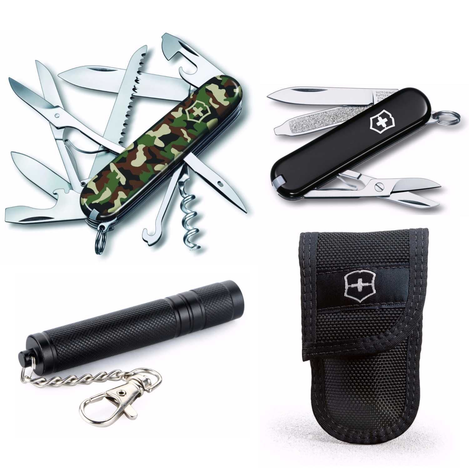 Victorinox Swiss Army Huntsman Pocket Knife Camouflage Bundle