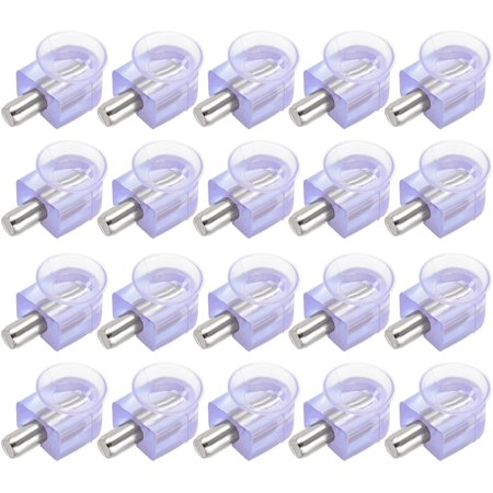 Shelf Support Pegs Glass Clamp Bracket Zinc Alloy with Suction Cup 20pcs