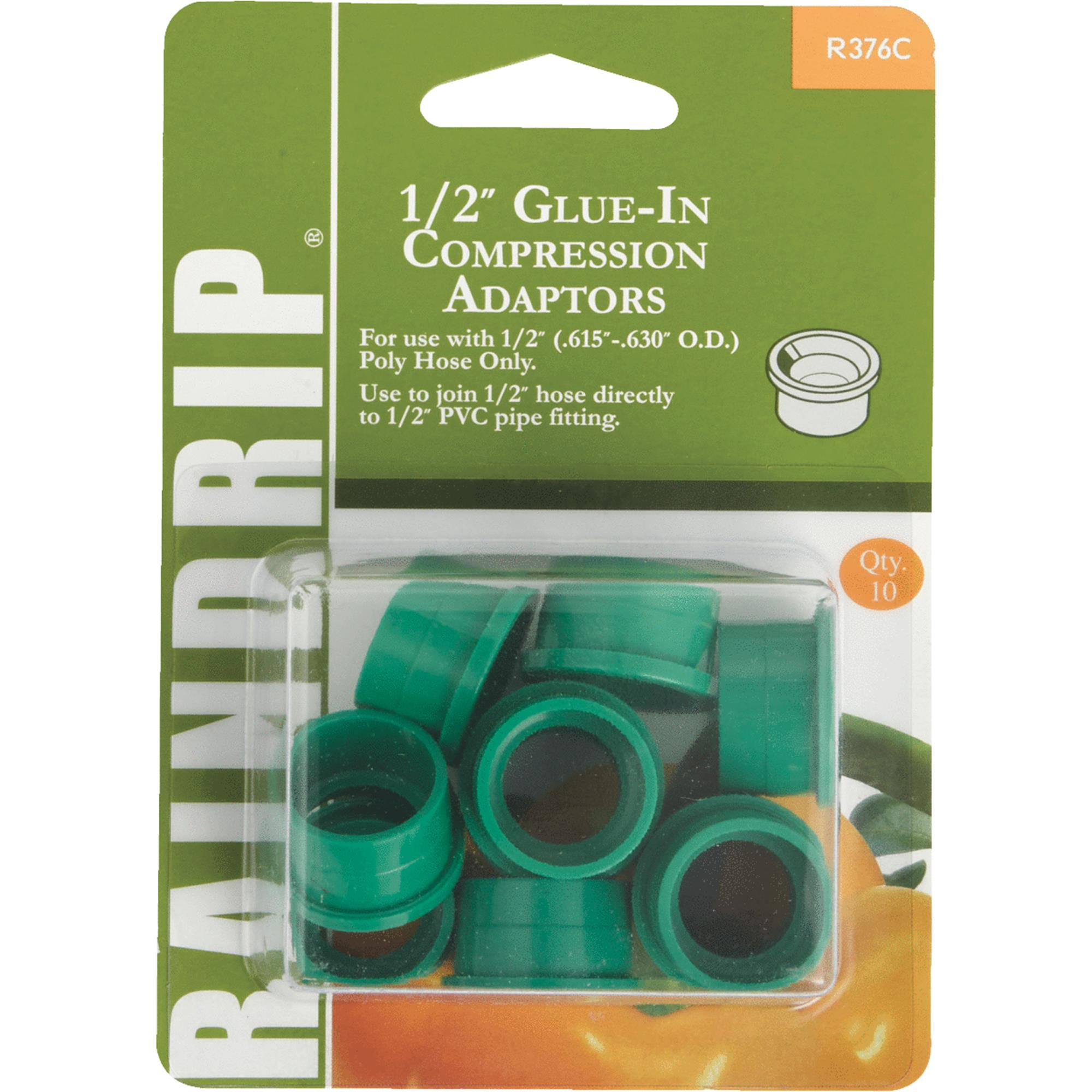 Raindrip Glue-In Hose-To-Drip Adapter