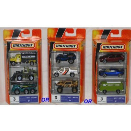 Matchbox Ready for Action MBX Metal 3-Pack, Assorted (Choose 1) 1:64 Scale Die Cast Toy... by Mattel