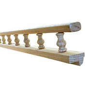 Omega  Npsprl Wl O Wood Gallery Rails With .25 In. Wrap Around Lip - Red Oak