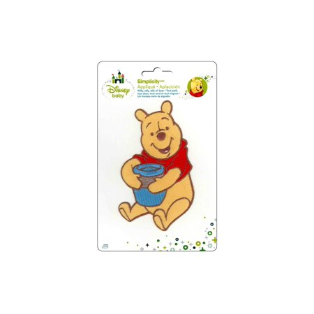 Pooh Bear Honey Pot - Disney Winnie the Pooh, Pooh with Honey Pot Iron-On Applique