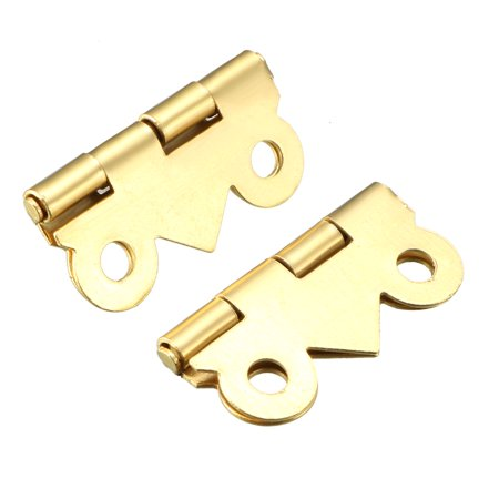 "0.79"" Golden Hinges Butterfly Shape Hinge Replacement with Screws 50pcs - image 1 of 6"