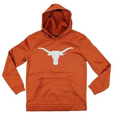 Genuine Stuff NCAA Youth Boys Texas Longhorns NCAA Perforated Pullover Hoodie - Burnt Orange