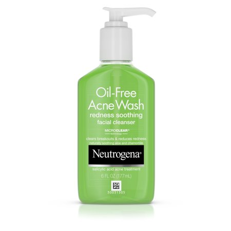 Salicylic Acid Face Wash - Neutrogena Salicylic Acid Facial Cleanser for Redness, 6 fl. oz
