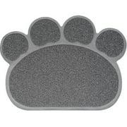 Nandog, Cat Litter Mat, Paw Shape, Gray