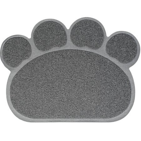 Nandog, Cat Litter Mat, Paw Shape, Gray - Kitty Paw