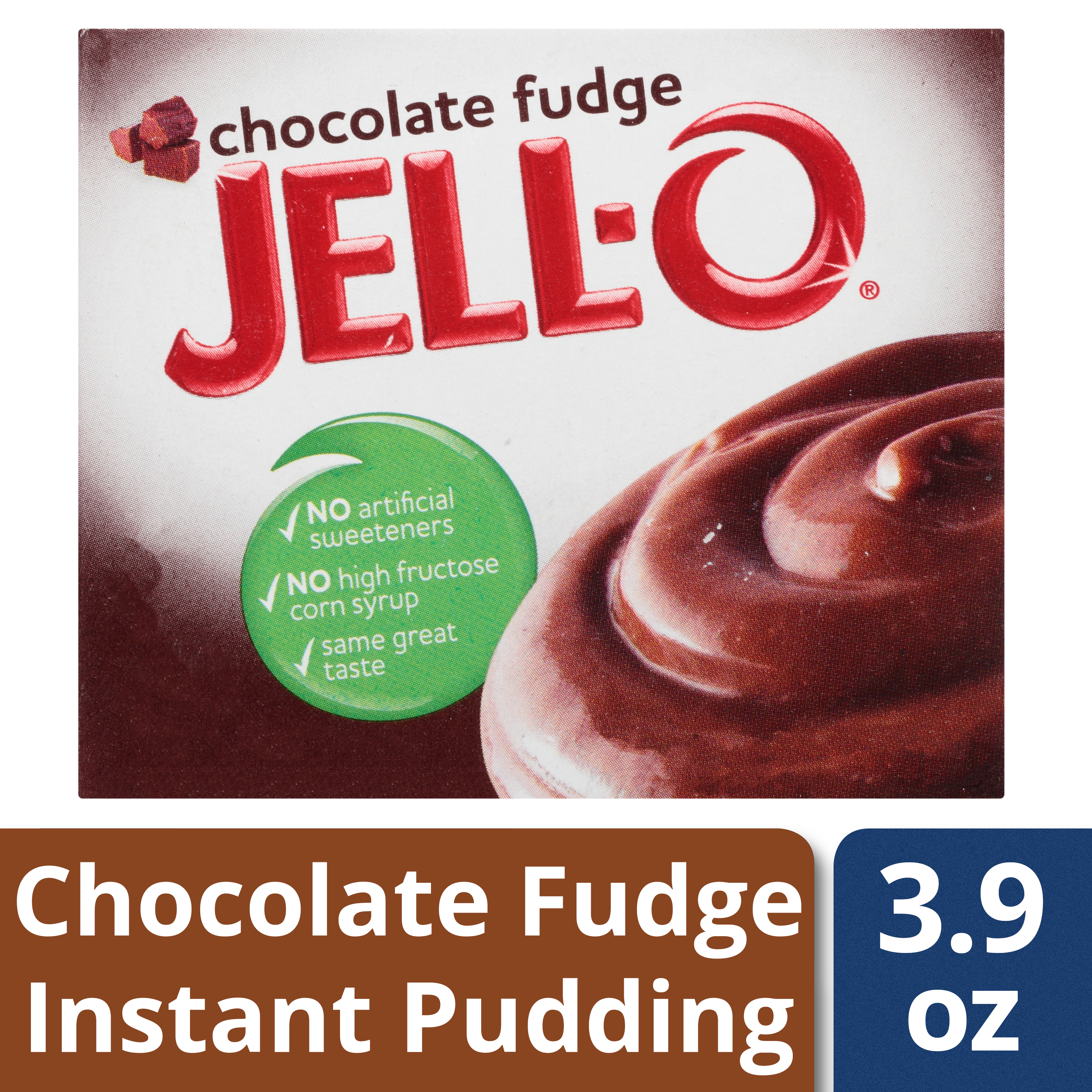 (4 Pack) Jell-O Instant Chocolate Fudge Pudding & Pie Filling, 3.9 oz Box