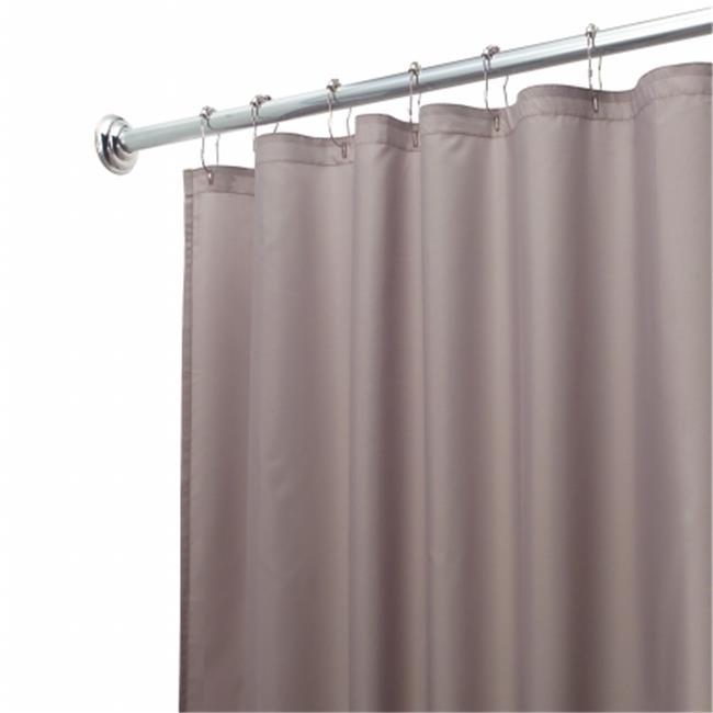 Interdesign 14657 Gray Fabric Waterproof Shower Curtain Liner