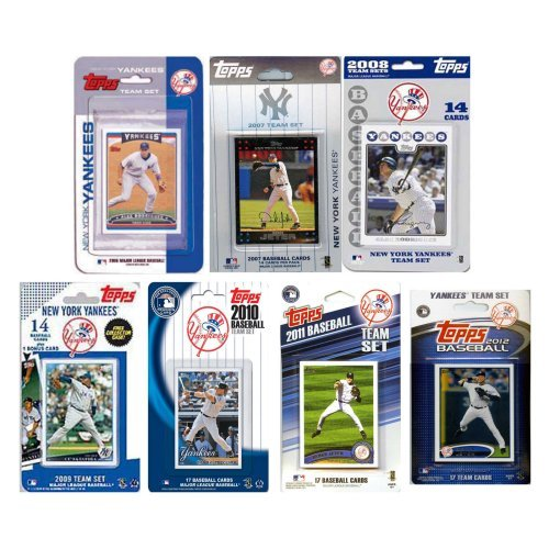 MLB New York Yankees 7 Different Licensed Trading Card Team Sets