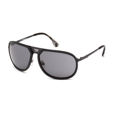 fa450689d7 DIESEL Eyewear - Diesel Men s DL0021 Metal Aviator Sunglasses BLACK 66 -  Walmart.com
