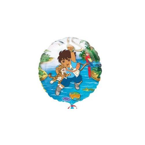 Party Destination 144090 Go Diego Go 18 inch Foil Balloon