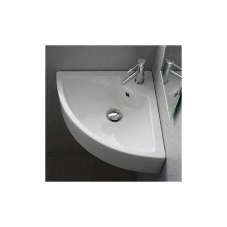 ... Art. 8007/E Scarabeo Square Washbasin Wall Mount Bathroom Sink, White