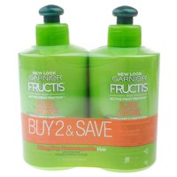 Garnier Fructis Sleek & Shine Leave-In Conditioning Cream, 10.2 fl oz (Twin Pack)
