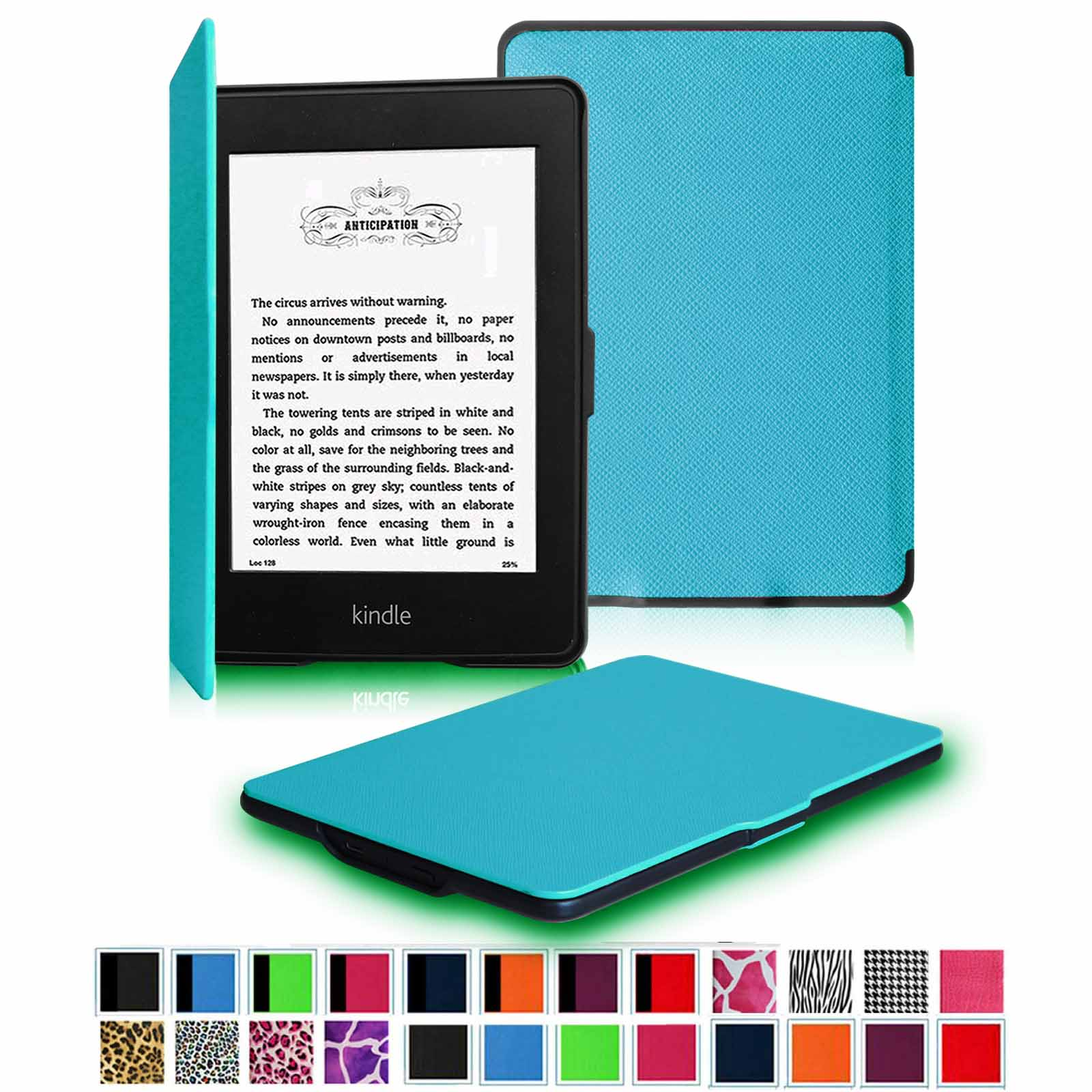 Fintie SlimShell Case for All Kindle Paperwhite Generations Prior to 2018, Not Fit All-new Paperwhite 10th Gen, Blue