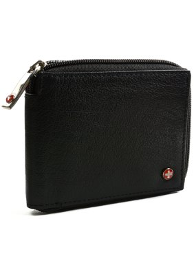 23cdd7ea4196 Product Image Men's Leather Zip Around Wallet ID Card Window Secure Zipper  Bifold