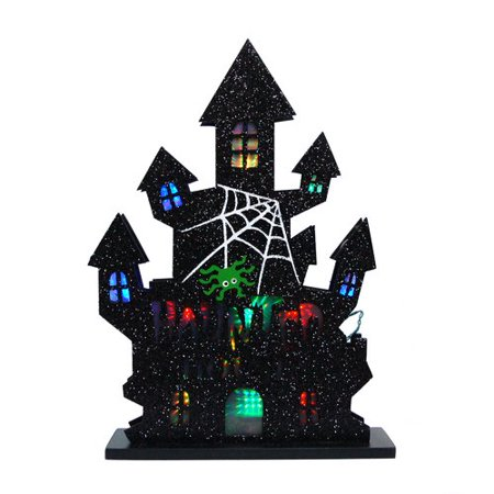 The Holiday Aisle Halloween Lighted Haunted House Decorative Accent