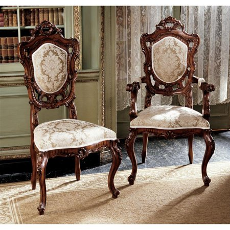 Design Toscano Toulon French Rococo Chairs Side Chairs Armchairs
