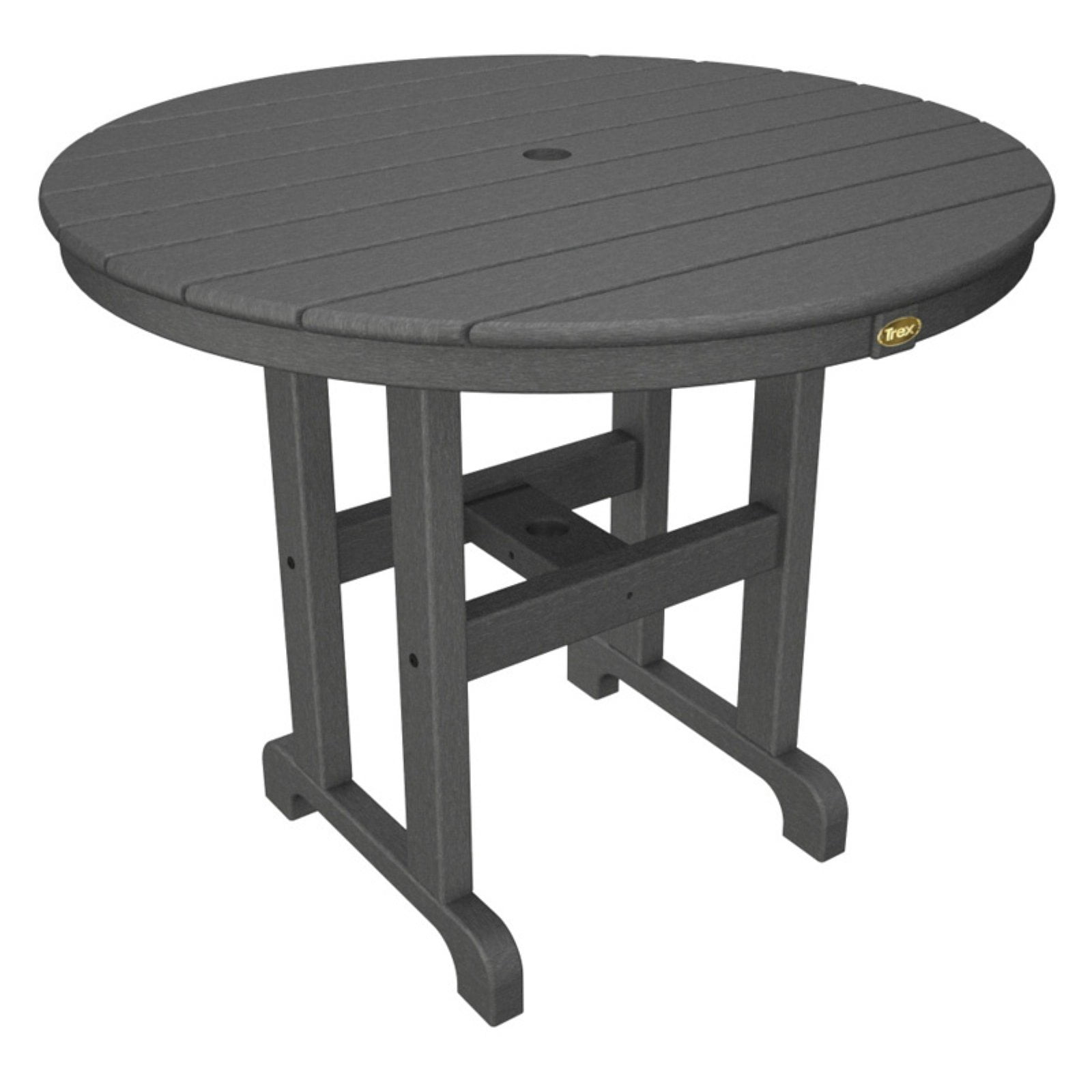 Trex Outdoor Furniture Recycled Plastic Monterey Bay Round Patio Dining Table Walmart Com Walmart Com