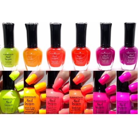 LWS LA Wholesale Store  6 PCS Kleancolor Nail Polish Neon