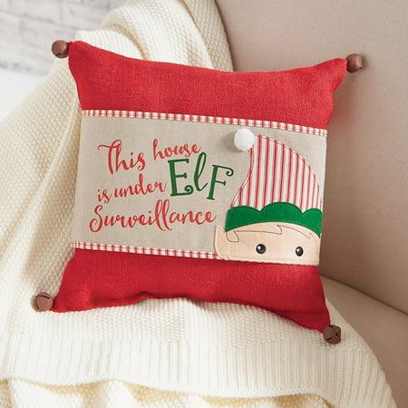 sleigh mates christmas home decor elf pillow wrap one pillow wrap by mud pie