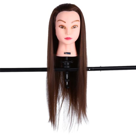 Cosmetology Hair Training Head, Mannequin Training Head, Hair Model Training, Adjustable Clamp Holder, Hairdressing Practice Cutting, Braiding, Setting, Straighten and Curl Training Salon Tool](Halloween Mannequin Head)